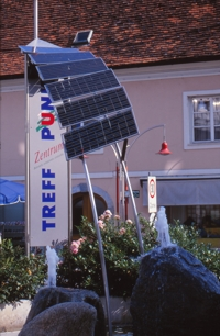 Solar fountain, Gleisdorf, credit pvresources