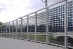 Transparent noise barrier, München, Pasing, courtesy ertex solar